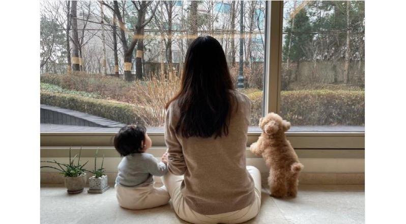 최지우 아기 공개, 귀여운 볼의 소유자